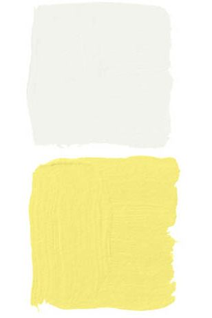 white and yellow paint swatches