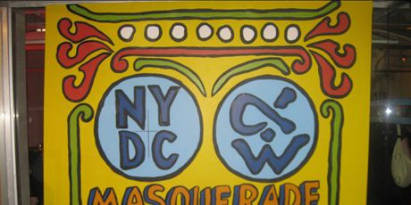 sign for the masquerade ball
