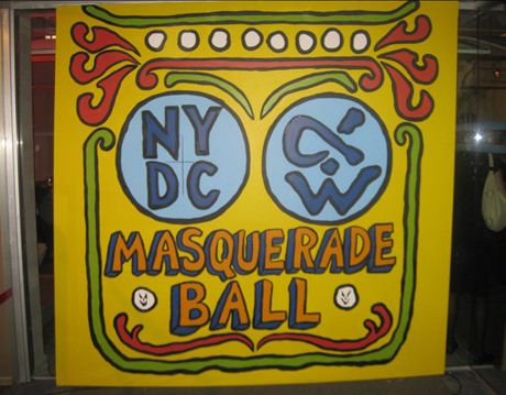 sign for the masquerade ball