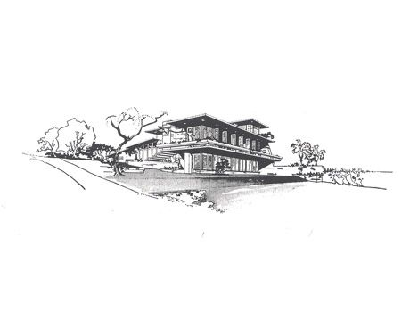 drawing of the house