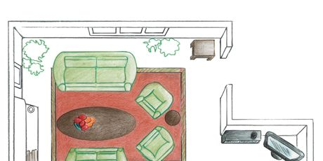 illustration of a living room