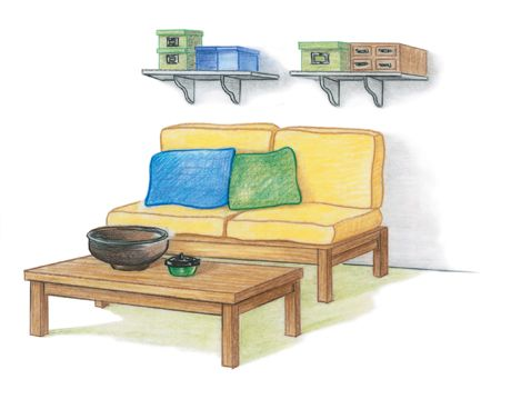 illustration of a sitting area