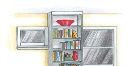 illustration of a bookshelf