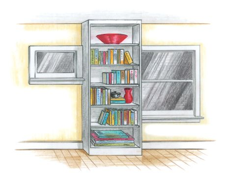 illustration of a bookshelf