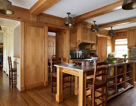 & Traditional Kitchen - Wood Kitchen Cabinets - Greenwich CT kurilladesign.com