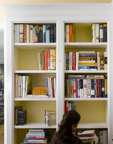 How to Decorate a Bookcase - Decorate Shelves - Elizabeth Mayhew