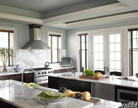 Traditional contemporary kitchens Gorgeous White Marble And Wood Kitchen House Beautiful Mix Contemporary And Traditional Styles In Kitchen