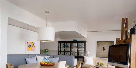 loftlike dining/living area