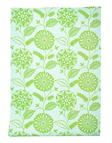 green and blue wallpaper print
