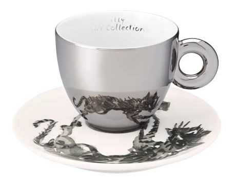mirror espresso cup and saucer