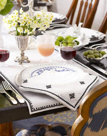 table setting by madeline weinrib