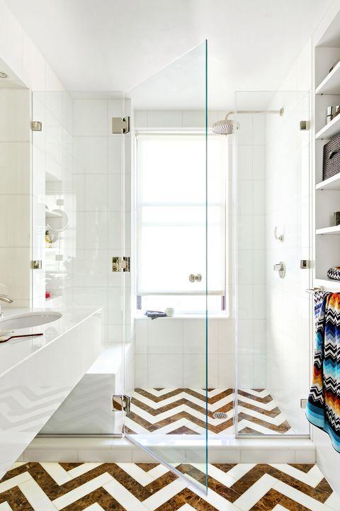chevron floor tile - Bathroom Floor Tiles