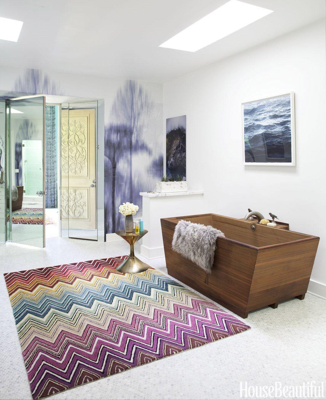 Best Bathroom Design Ideas Decor Pictures Of Stylish Modern - Missoni black and white bath mat for bathroom decorating ideas