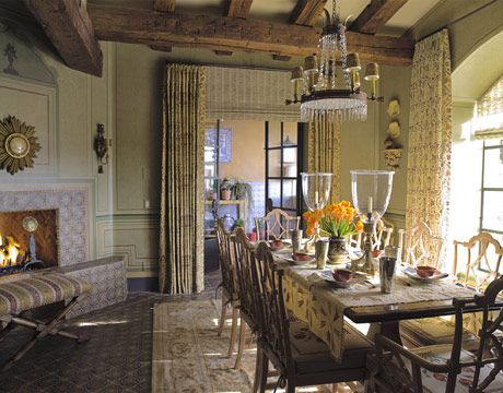 Designer Cathy Kincaid Used Antique Accessories And Smoldering Colors To  Turn This Desert Home Into An Old World Getaway.