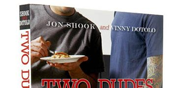 cover of two dudes one pan cookbook