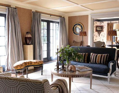 Bridgehampton House Living Room Decorated By Jean Louis Deniot