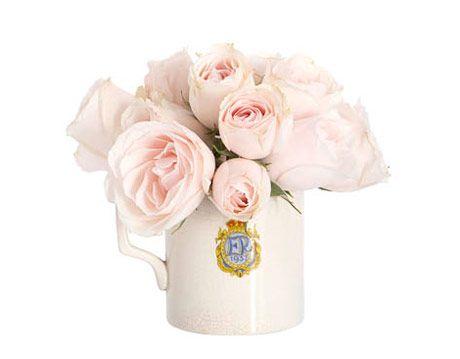 mug with pink flowers