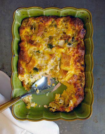 casserole dish with egg strata - Strata Recipes For Brunch