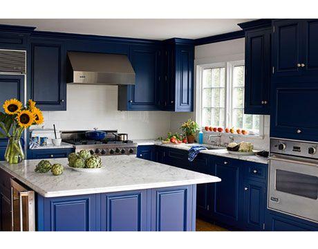 Merveilleux Blue And White Kitchen