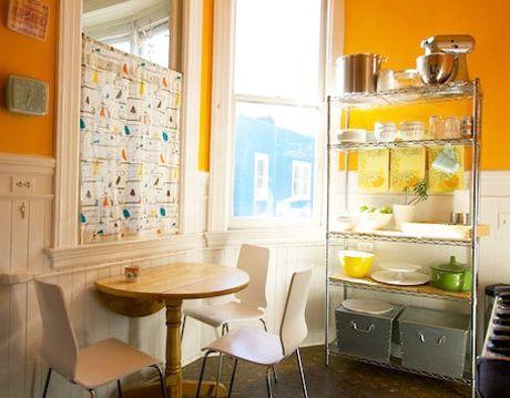 Orange Kitchen Courtesy Of Apartment Therapy