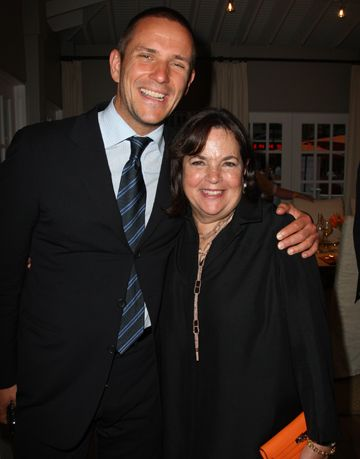robert stiling and ina garten inside the kitchen