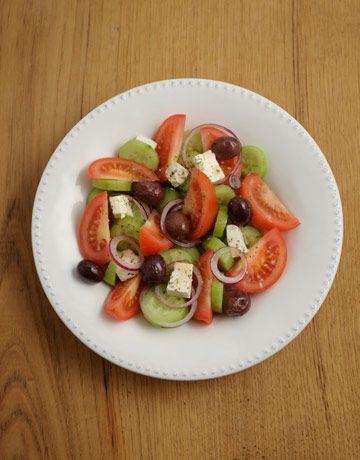Greek Salad Vefa Alexiadou Traditional Greek Recipe