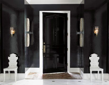 black foyer