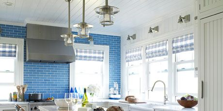 Blue Kitchen Decor Blue Kitchen Wall Tile Ideas