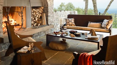 dark wood outdoor furniture