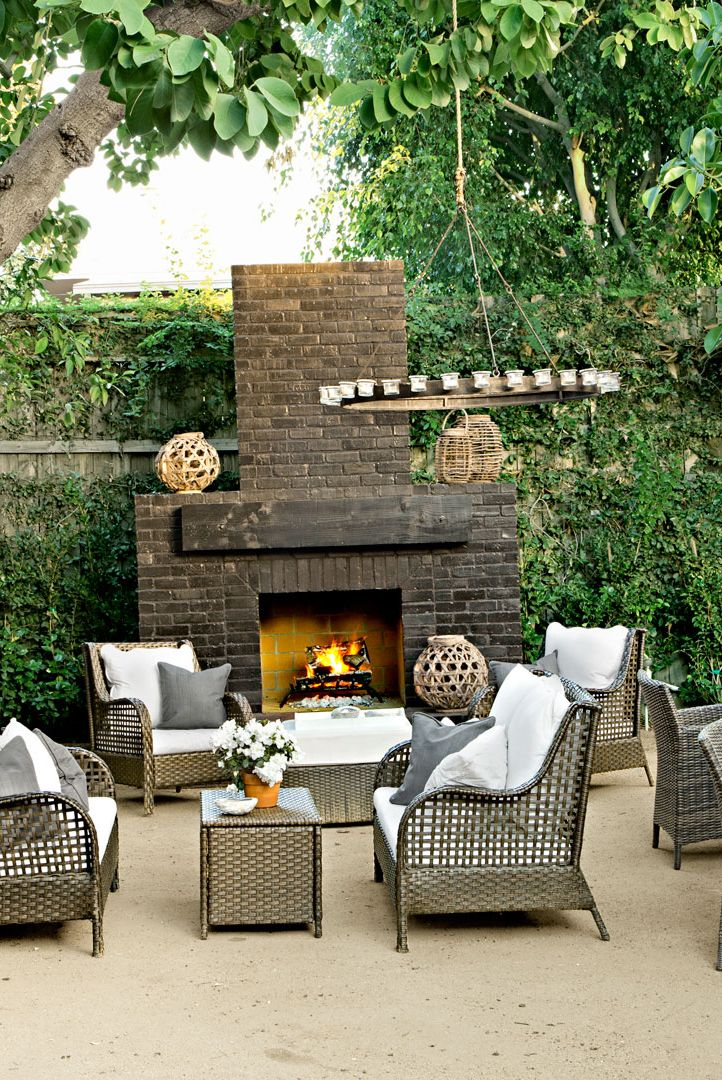 30 Best Patio Ideas for 2018 - Outdoor Patio Design Ideas ... on Small Outdoor Fireplace Ideas id=78885