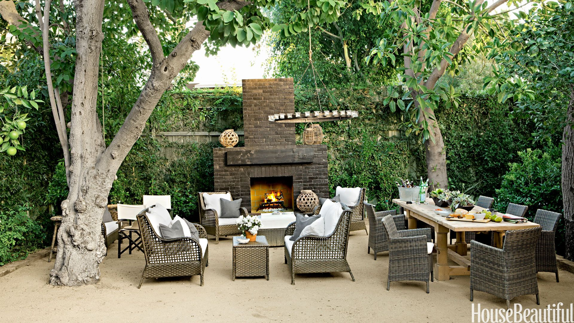 Perfect Brick Outdoor Fireplace