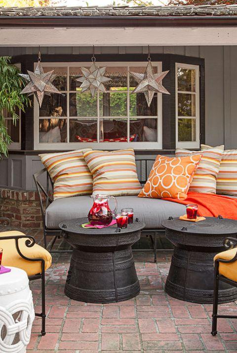 orange outdoor furniture - 30 Best Patio Ideas For 2018 - Outdoor Patio Design Ideas And Photos