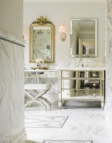 mirrors in a master bathroom