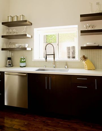 Open Kitchen Shelves. Courtesy Of Jeff Lewis
