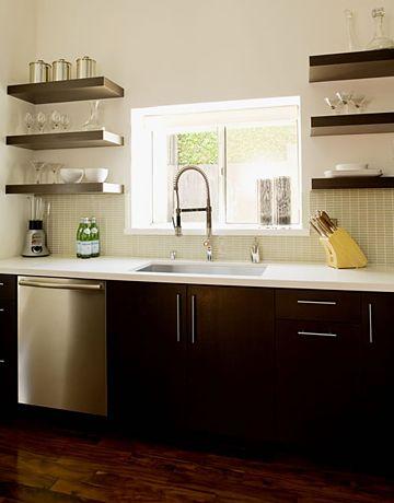 Open Kitchen Shelves. Courtesy Of Jeff Lewis