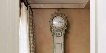 swedish mora clock and dog