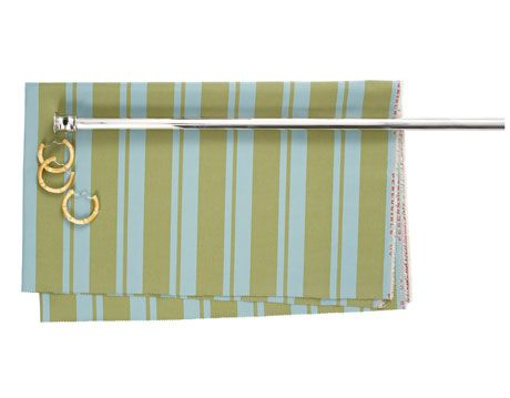green striped shower curtain