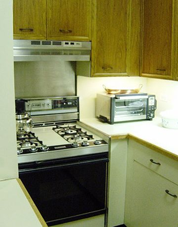 older kitchen with toaster oven
