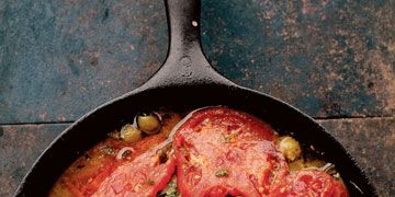 red snapper with tomatoes