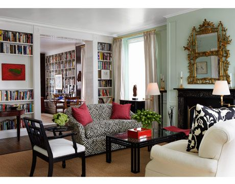 white trim living room