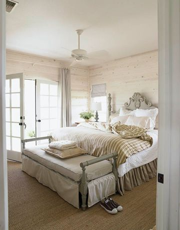 brown and white bedroom
