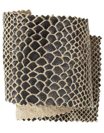 black fabric printed in a snake skin like pattern
