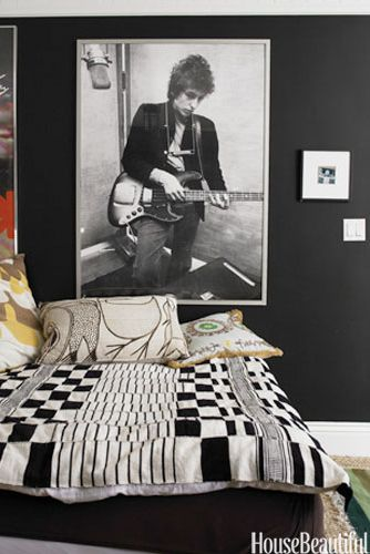 Black Home Decor And Room Ideas Decorating With Black - Black painted room