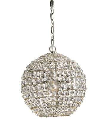 wrought iron crystal disco ball lamp