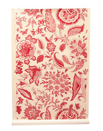 cream wallpaper with indienne floral paisley flowers