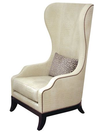 antique classic white high back chair