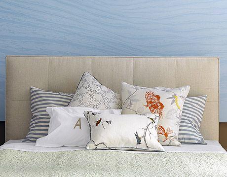 pillows arranged asymmetrically