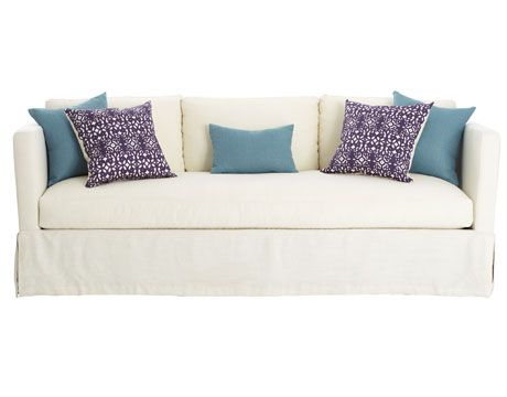 Attirant Turquoise And Purple Pillows On White Sofa