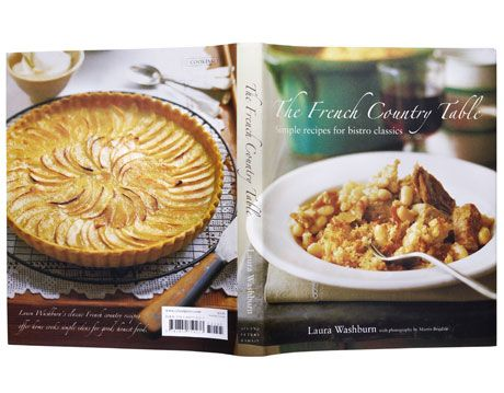 front and back cover of the french country table cookbook