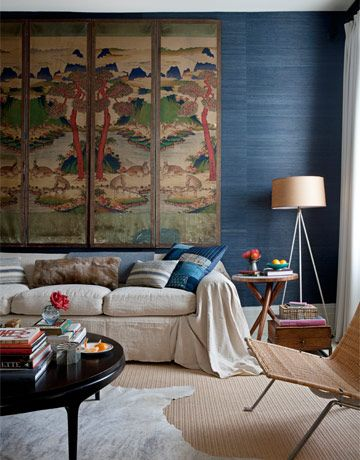 Living Room With Mix Of Antique And Modern